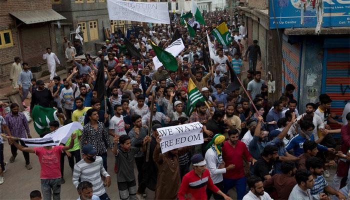 سری نگر میں9 اگست کو احتجاج ہوا،بھارت کا اعتراف