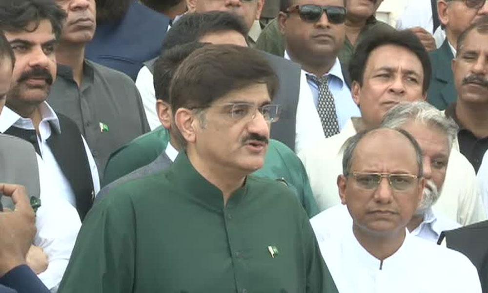 وزیرِ اعلیٰ سندھ کی مزارِ قائد پر حاضری، پرچم کشائی