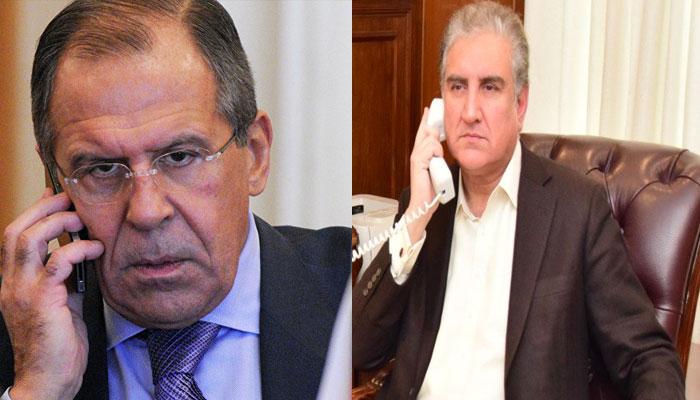 مقبوضہ کشمیر کی صورتحال پر شاہ محمود کا روسی ہم منصب سے رابطہ