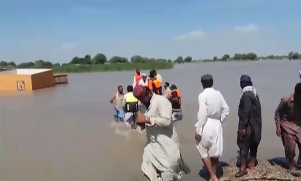 راجن پور: کشتی ڈوبنے سے لاپتہ افراد کی تلاش جاری