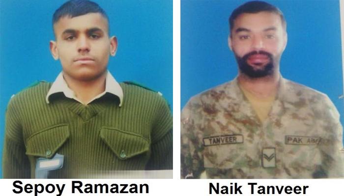 2 شہید فوجیوں کی تدفین جہانیاں، میاں چنوں میں ہوگی