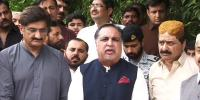 Governor Sindh Talks To Media In Jamshoro