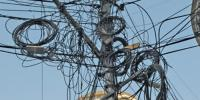 Cable Internet Wires On Electric Poles Are Big Danger K Electric