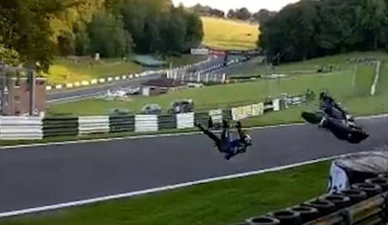 Stopping Moment British Stunt Biker Cheats Death In 110mph Uk
