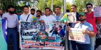 Protest Infront Of Indian Embassy In Spain In Favour Kashmiris