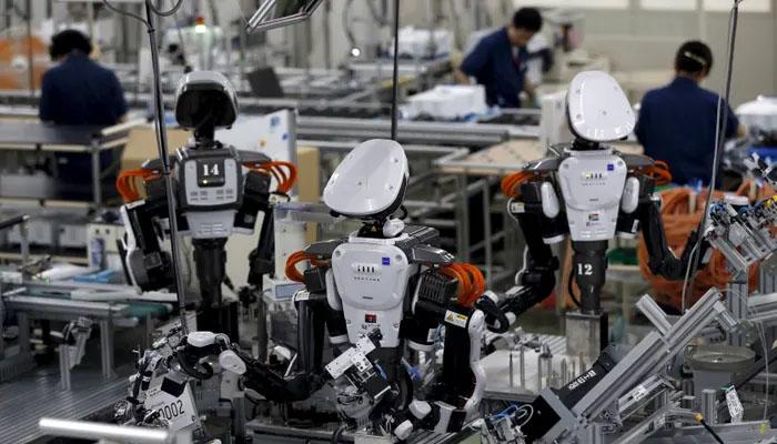 چین  روبوٹس بنانےوالے ممالک میں سرفہرست