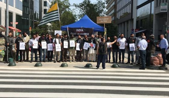 Brussels Kashmir Council Organized Protest