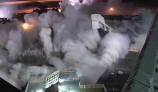 Garage Demolished At Tampa International Airport In Florida