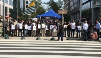 Brussels Kashmir Council Organized Protest