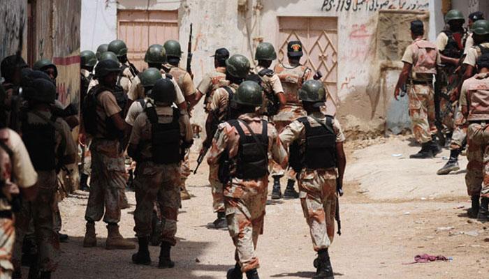 کراچی: رینجرز کی مختلف علاقوں میں کارروائی، چھ ملزمان گرفتار