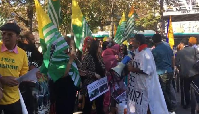 مودی کی فرانس آمد پر بھارت مخالف مظاہرہ