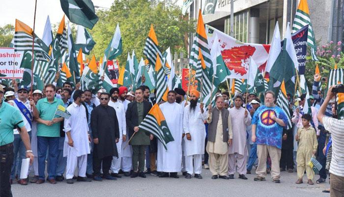 سکھ اور مسیحی برادری کا کشمیریوں سے اظہار یکجہتی