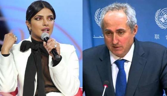 Priyanka Has The Right To Speak In Personal Capacity Unicef