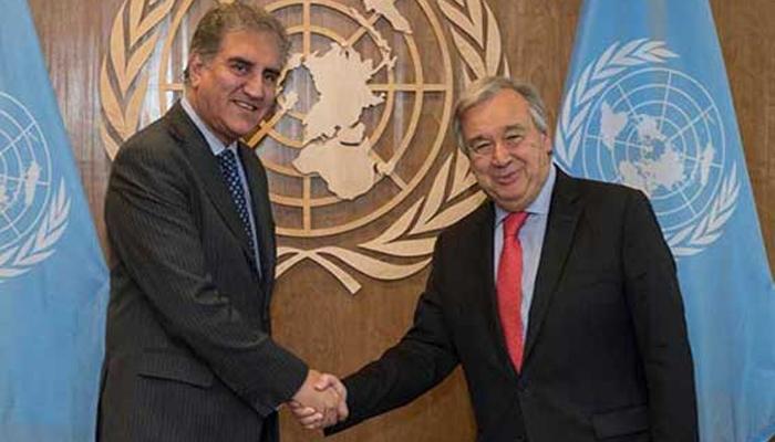 شاہ محمود کا اقوام متحدہ کے سیکریٹری جنرل سے رابطہ طے پا گیا