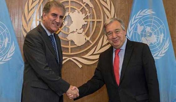 شاہ محمود کا اقوام متحدہ کے سیکریٹری جنرل سے رابطہ طے