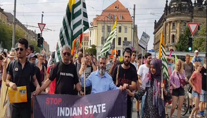 جرمنی میں بھارتی مظالم اُجاگر کرنے کیلئے مظاہرہ