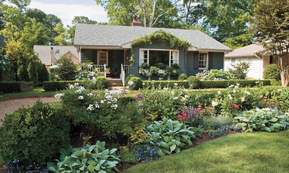 گھر کے باہر باغیچہ بنانے کے انداز