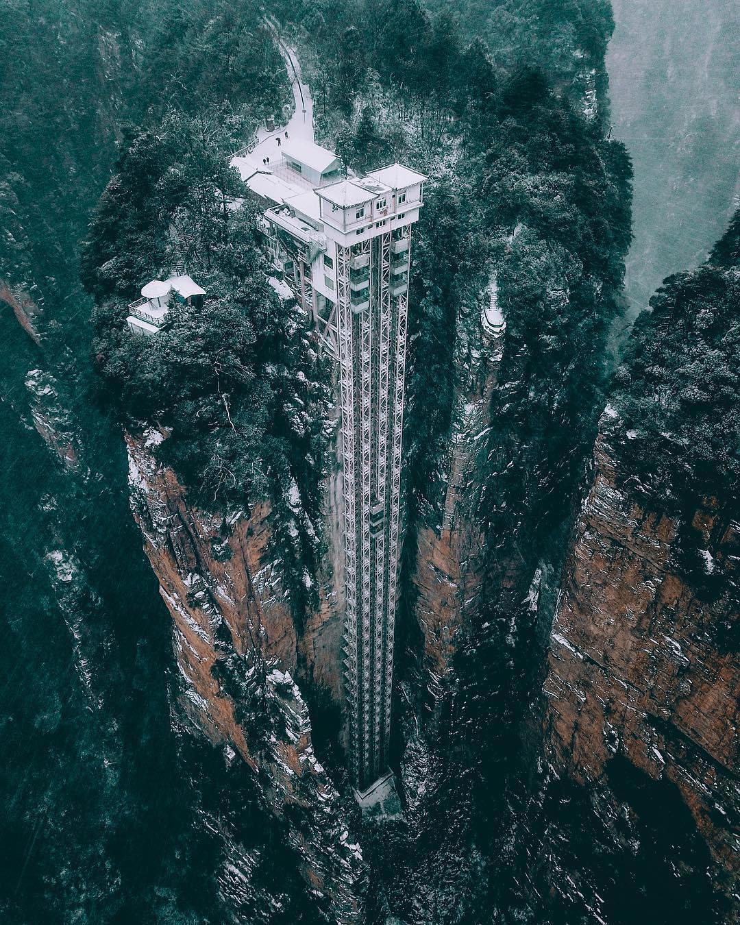 چین میں دُنیا کی بلند ترین لفٹ بنا دی گئی