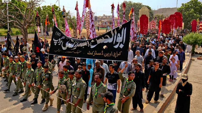 کراچی میں 8 محرالحرام کا مرکزی جلوس کامیابی سے اختتام