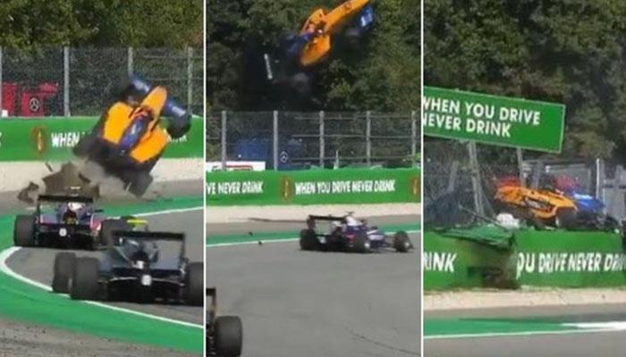 فارمولا تھری ریس میں ریسنگ کار کا خوفناک حادثہ