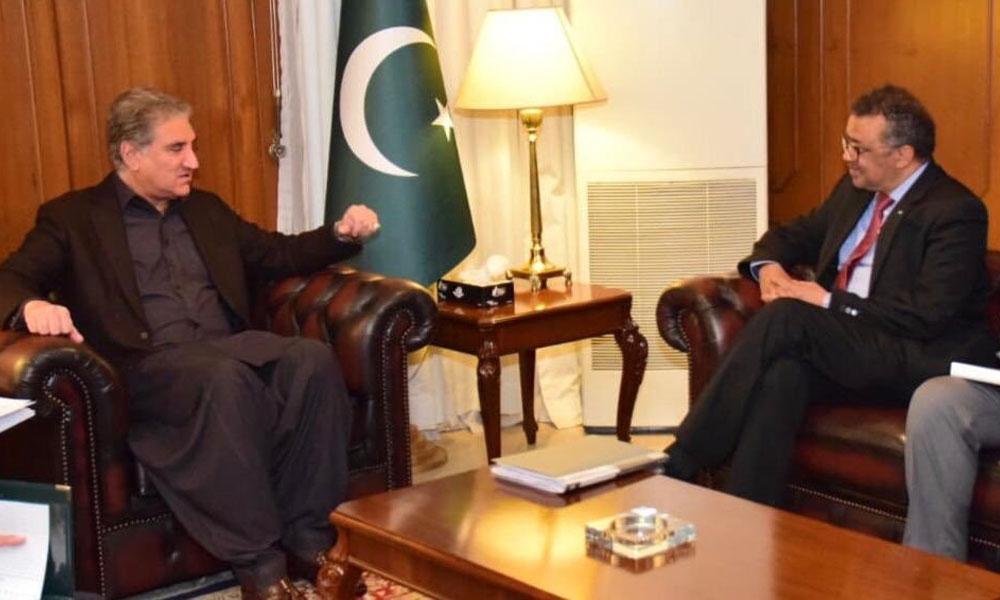 وزیرخارجہ کی ڈبلیوایچ اوکے ڈائریکٹر جنرل سے ملاقات