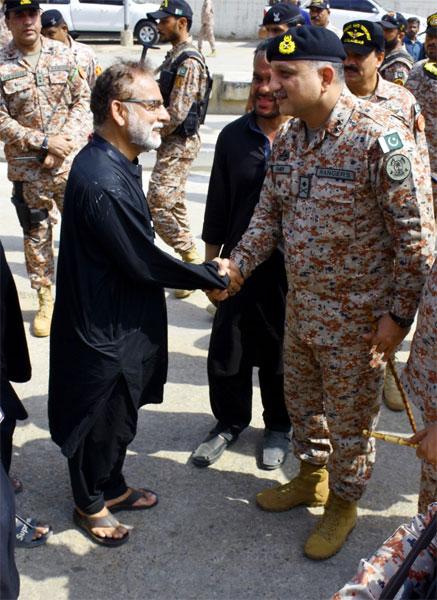 کراچی: ڈی جی رینجرز کا عاشورہ کے جلوس کی سیکیورٹی کا جائزہ