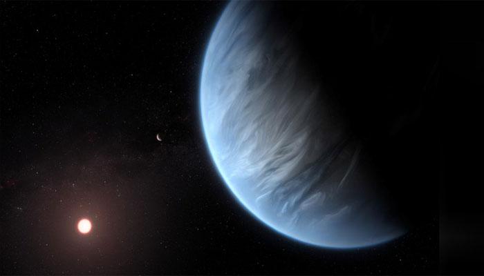 زمین سے 111 نوری سال دور سیارے پر پانی دریافت