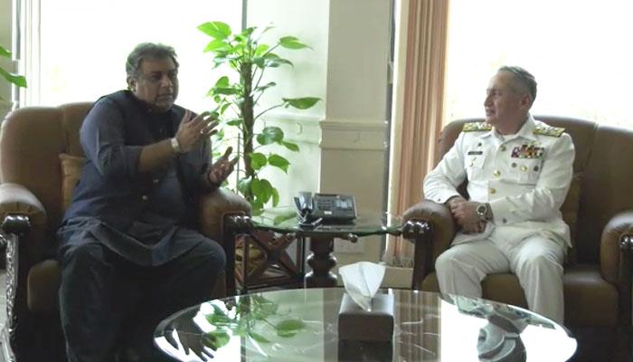 علی حیدر زیدی کی پاک بحریہ کے سربراہ سے ملاقات