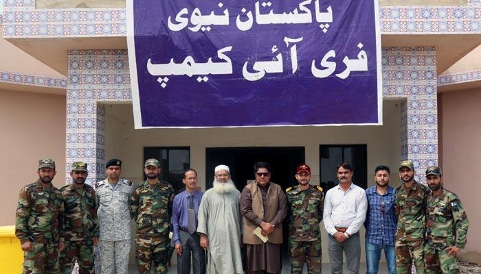 پاک بحریہ کا مبارک ویلیج میں مفت آئی کیمپ