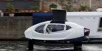 Futuristic Flying Water Taxi Tested On River Seine Paris