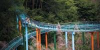 Longest Mountainside Water Slide In China