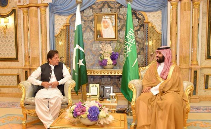 وزیراعظم کی سعودی ولی عہدمحمد بن سلمان سے ملاقات