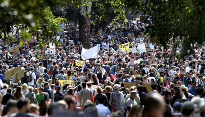 آسٹریلیا،ماحولیاتی تبدیلی کے خلاف ہزاروں شہری سڑکوں پر