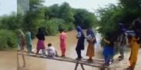 Dangerous Route To School In Badin