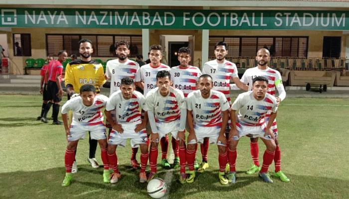 نیا ناظم آباد فٹبال، سی اے اے نے سندھ پولیس کو ہرادیا