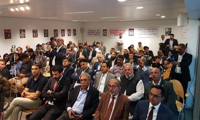 برسلز پریس کلب میں کشمیر کانفرنس کا انعقاد