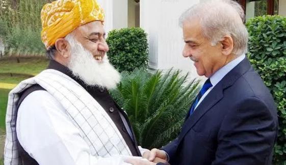 Fazlur Rehman Meets Shahbaz Sharif In Lahore