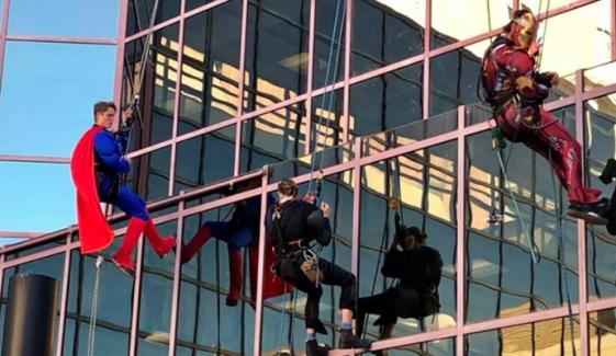 Cleaners Dress Up As Superheroes To Cheer Up Sick Children In Australian Hospital