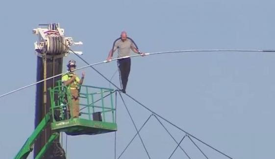 Daredevil Breaks Wire Walk Record In Canada