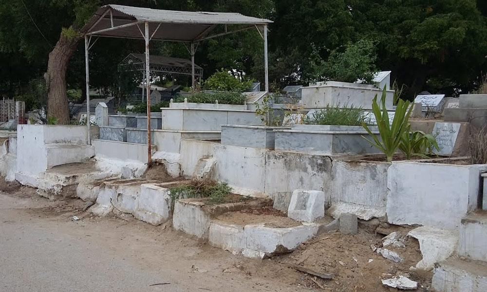سخی حسن کا وسیع وعریض قبرستان