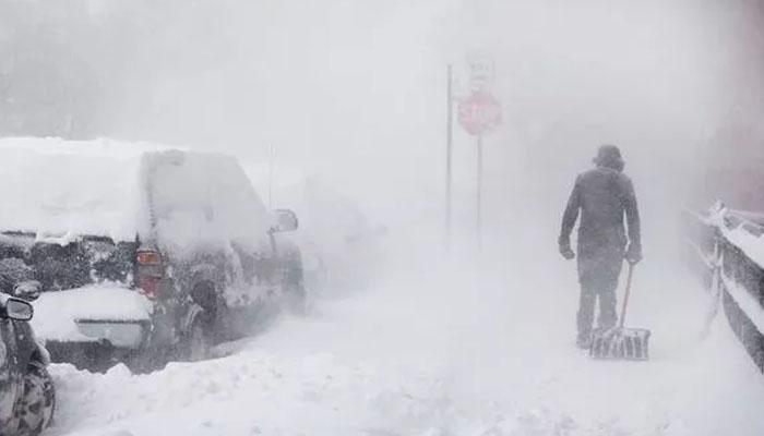 امریکا میں برفباری کا طوفان