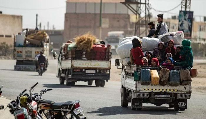 ترک فوج کے آپریشن کے باعث 2 لاکھ شامی شہری نقل مکانی پر مجبور