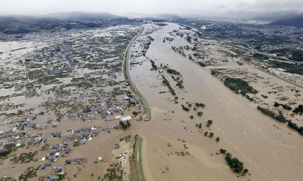 جاپان: طوفان 'ہیگی بیز' نے تباہی مچا دی، 14 افراد ہلاک