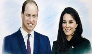 Pakistani Artist Makes Prince William Kate Middletons Portrait