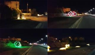 Cbc Installed 3d Lights On Sea View Road In Karachi