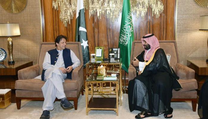 وزیراعظم کی سعودی ولی عہد سے ملاقات