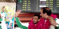 Gold Medalist Wrestler Inam Butt Warm Welcome On Lahore Airport