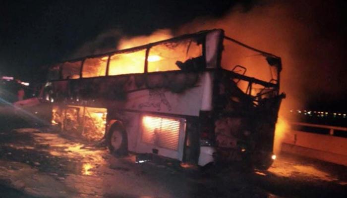 سعودی عرب: خوفناک ٹریفک حادثہ، 35 جاں بحق