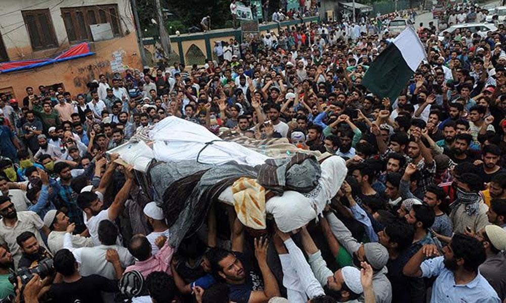 مقبوضہ کشمیر: جنازے دیکھ کر شہریوں نے کرفیو توڑ دیا