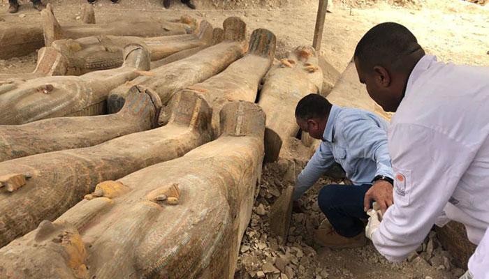 مصر میں چار ہزار برس پرانے 20 تابوت دریافت